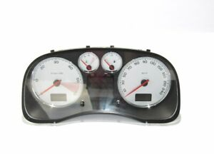 Peugeot-307-CC-2-0-Diesel-p9661323180-Tacho-CLUSTER-Kombiinstrument-speedometer