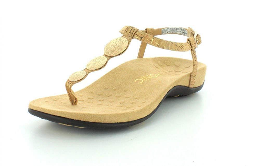 Vionic Lizbeth de mujer T-Strap Ortopédico Sandalia Flip Flop Flop Flop Tanga comodidad de caminar 096e57