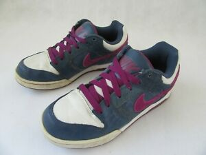 new products c212e 852db Details about NIKE AIR TWILIGHT 2010 LEATHER NAVY / BURGUNDY TRAINERS  CASUAL SHOE SIZE 5
