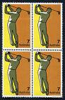 1974 Sport Golf Block of Four 4 Stamp MUH Mint Australia