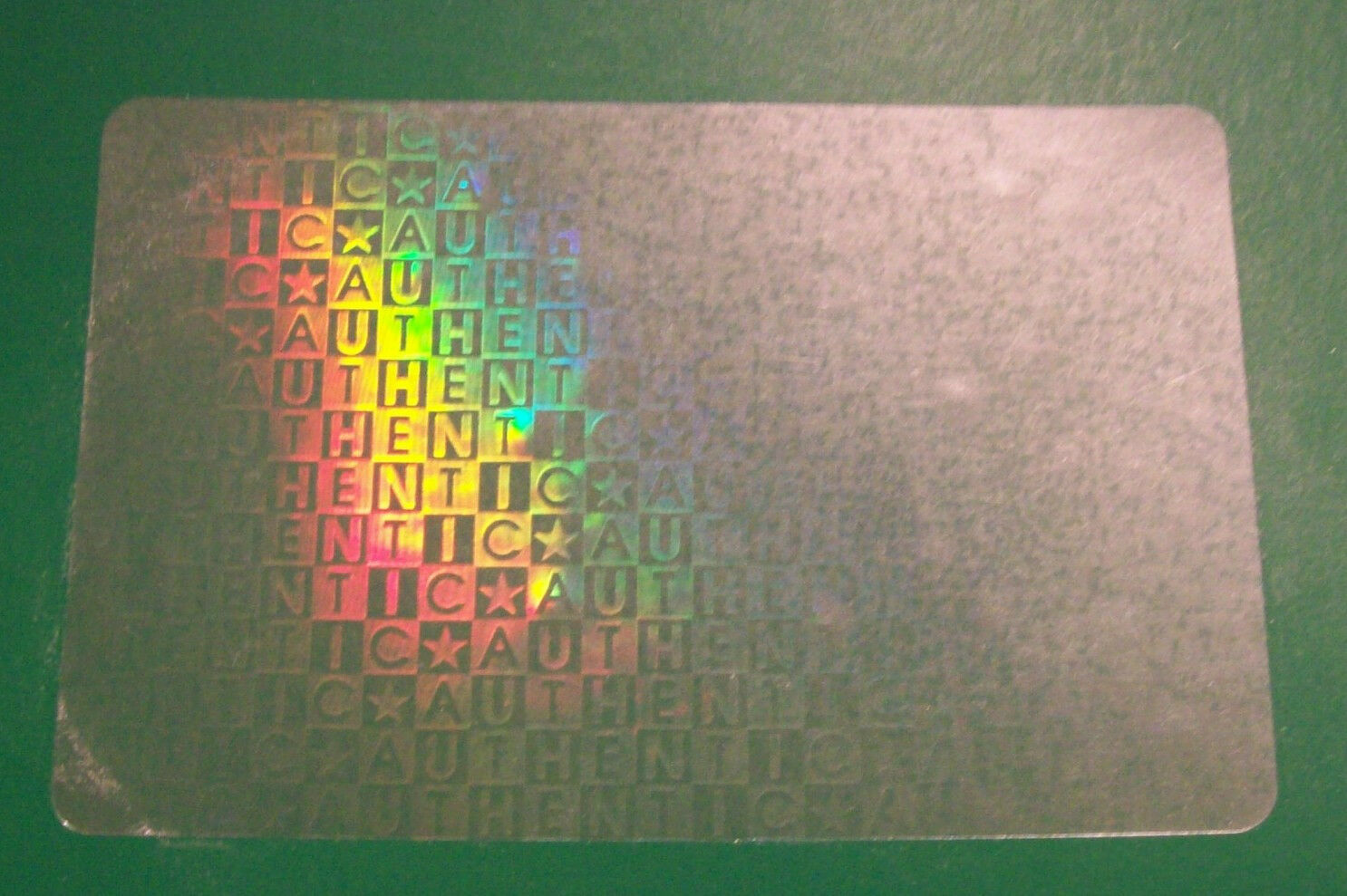 100 Authentic ID Tag Overlay Hologram Tamper Proof Badge  Credit Card, etc