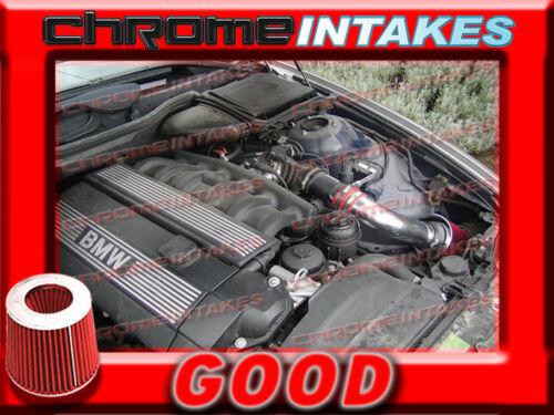 RED 2001 2002 2003 BMW 525 525i//530 530i i E39 2.5L//3.0L I6 AIR INTAKE KIT