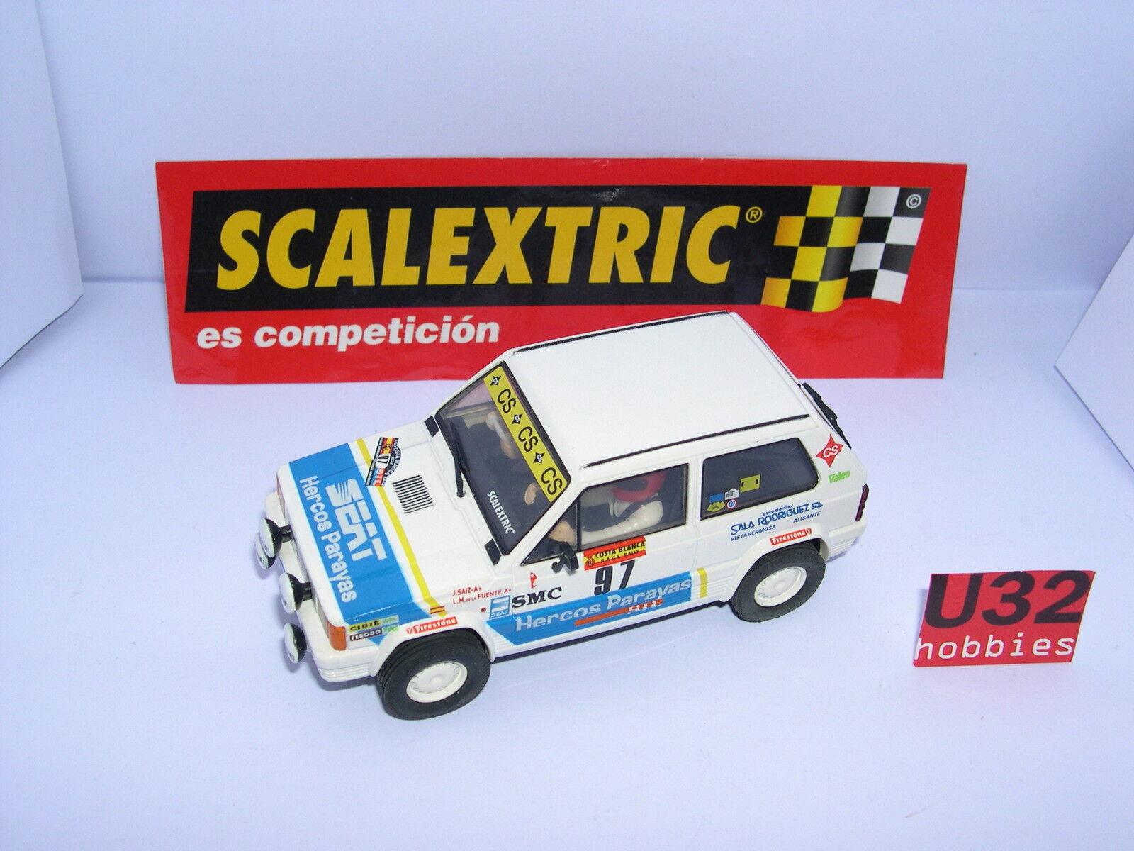 SCALEXTRIC SPAIN SEAT SPORT SEAT PANDA 45  97 RALLYE COSTA BIANCA, 1984 MINT