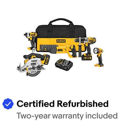 DEWALT 20V MAX Li-Ion 5-Tool Premium Combo Kit DCK592L2R Certified Refurbished