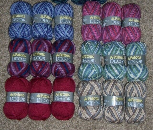 Yarn 208 Yards Per Ball New Lilac 4 Lot of 2 Patons Decor Worsted Weight