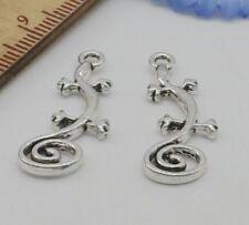 Free Ship 10//50Pcs Tibetan Silver Fox Charms Pendant For Bracelet 15x14mm
