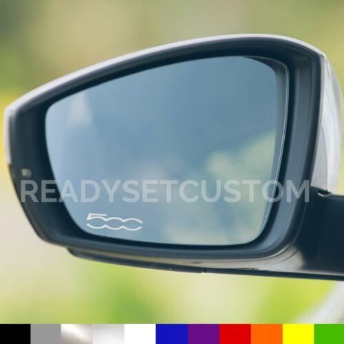 3x FIAT 500 Aile Miroir Autocollants-Stickers Voiture Styling