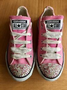 Trainers 11infant Converse Low Crystal Size Girl's Low Uk vqR1RfaFw