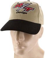 R/t Dodge Black Khaki Baseball Cap Trucker Hat Snapback Mopar Charger Challenger