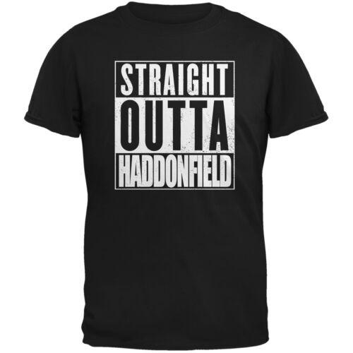 Halloween Straight Outta Haddonfield Black Adult T-Shirt