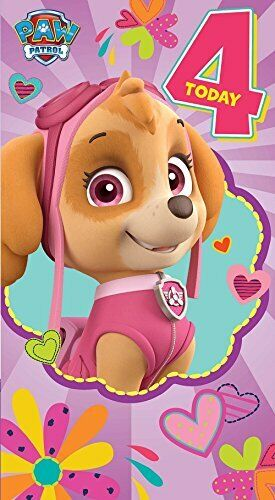 Paw Patrol Birthday Greetings Cards Gift Wrap Money Wallet Son Daughter Ages Gen B Age 4 With Glitter Girl For Sale Online