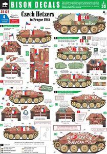 Bison-Decals-1-35-Czech-Hetzers-in-Prague-1945-35127