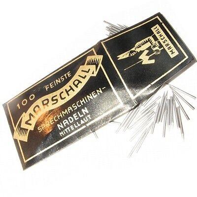 100 Grammophon Nadeln ''Mittellaut'' Stahlnadeln - NEU -- New steel needles -N51