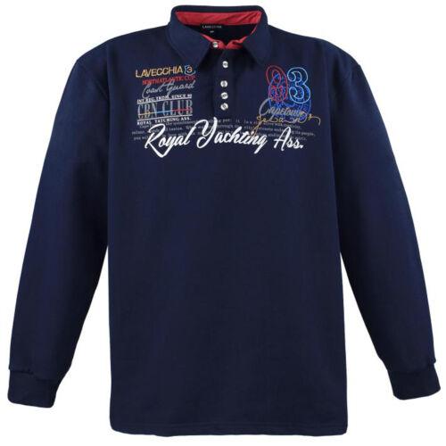 Herren Poloshirt Sweat Shirt langarm Lavecchia Übergrößen 3XL bis 8XL