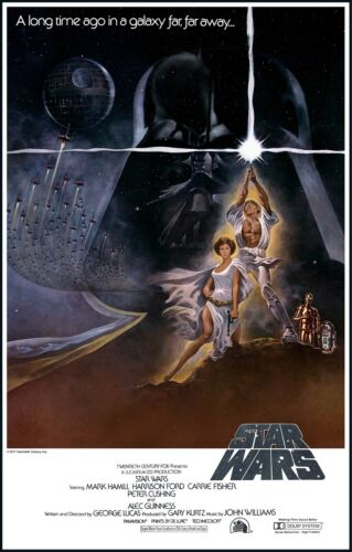 Star Wars Movie Retro 1977 Poster Print A0-A1-A2-A3-A4-A5-A6-MAXI 501