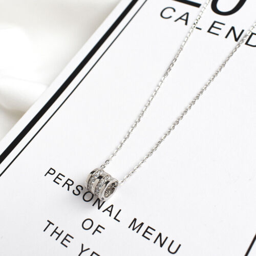 Collar remolque cilindro real Sterling plata 925 circonita señora