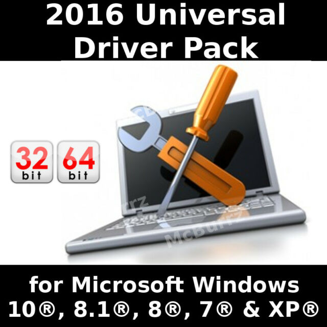 2016 Universal Drivers on 16GB USB for Microsoft Windows 10, 8.1/8, 7, Vista, XP