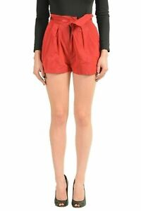 Just-Cavalli-Red-Women-039-s-Casual-Pleated-Shorts-US-s-IT-40