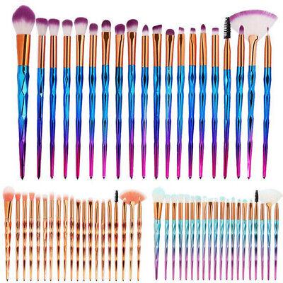 20pcs unicorn makeup brushes set foundation blush face