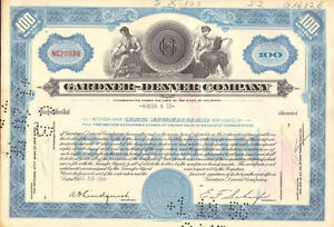 Gardner-Denver-Company-gt-old-1950s-machinery-stock-certificate-share-scripophily