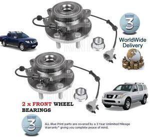 Front Wheel Bearing /& ABS Sensor For Nissan Navara D40//Pathfinder R51 2.5TD