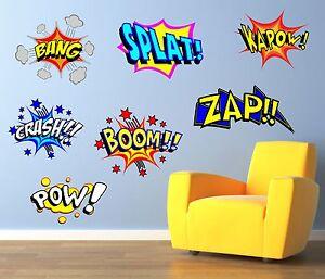 Cool Comic Pop Art Mur Art Autocollant, Autocollant, Graphique, Decal, Chambre Sg48-afficher Le Titre D'origine à Distribuer Partout Dans Le Monde