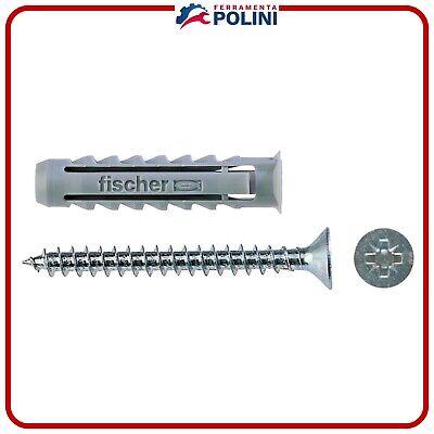 FISCHER 100 Tasselli SX con vite 6 x 30 mm per Muro pieno-Mattone Forato 570021