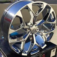 22 Gmc Yukon Denali Style Wheels Chrome Rims Sierra Tahoe Suburban Ltz Silverado