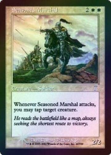Foil Played MTG 7th Magic 2B3 Seasoned Marshal