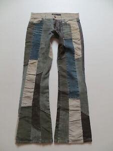 ENERGIE-GOLD-Sixty-PATCHWORK-Schlag-Jeans-Hose-W-30-L-32-Cordhose-Schlaghose