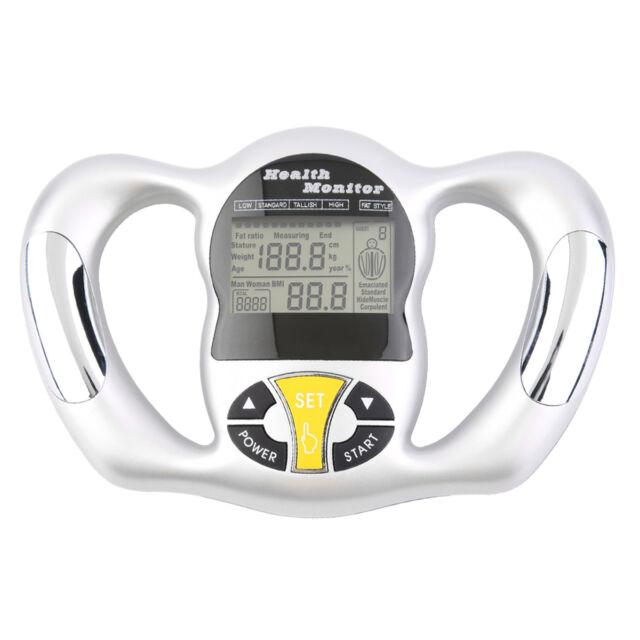 Digital LCD Body Fat Analyzer Weight Health Monitor Meter Handheld Tester 2Y