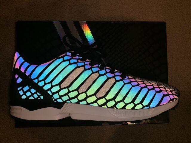 more photos 7b9e6 d15ec Adidas ZX Flux Xeno Black Reflective 3M AQ7418 2015 10.5
