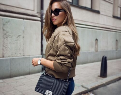 Sold 6 Bomber Fave Jacket Khaki Bloggers Xs Quilted 8 Small Extra Out Zara p0qfn