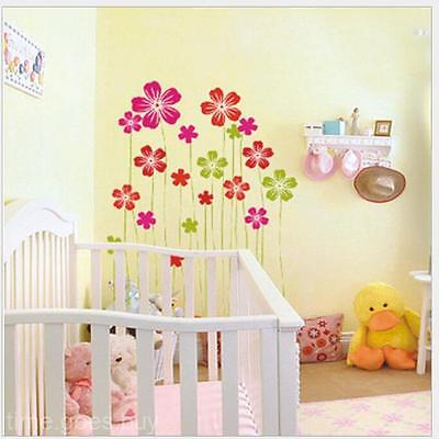Multicolor Removable Flowers Pattern Decor Baby Room Wall Sticker Paster Decal