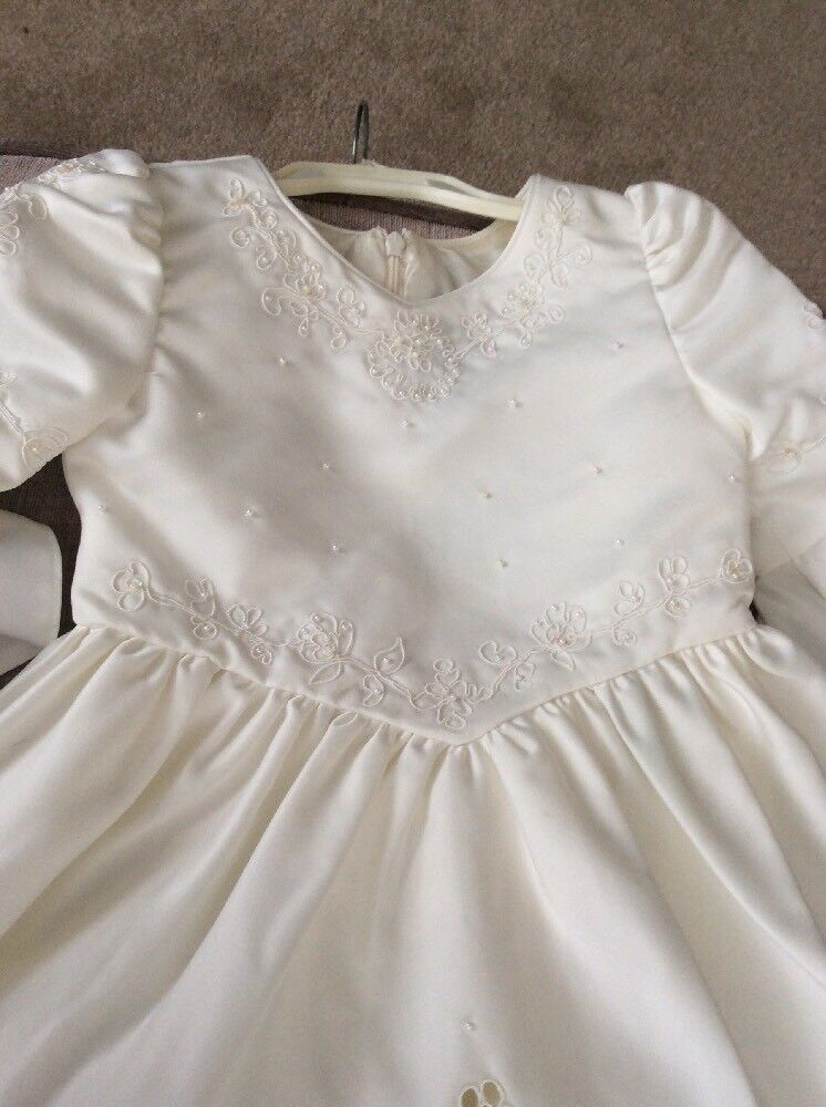 Fancy Dress Dressing Up Princess Party Flower Girl Age 8 Ivory Pearls