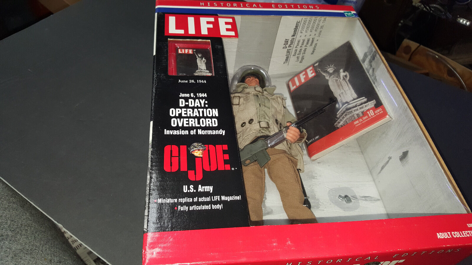 GI Joe Historical editions D-day Invasion of Normandy  US Army Hasbro