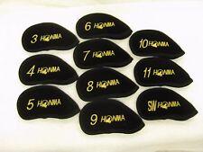 HONMA® BLACK VELVET IRON  HEAD  COVER 3i-SW 10PCS For Honma Golf Player