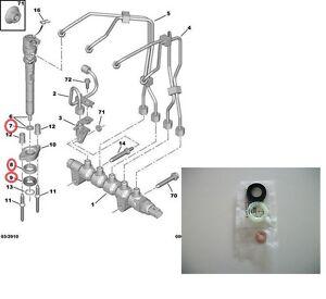 injektor einspritzd se dichtung f r ford fiesta focus. Black Bedroom Furniture Sets. Home Design Ideas
