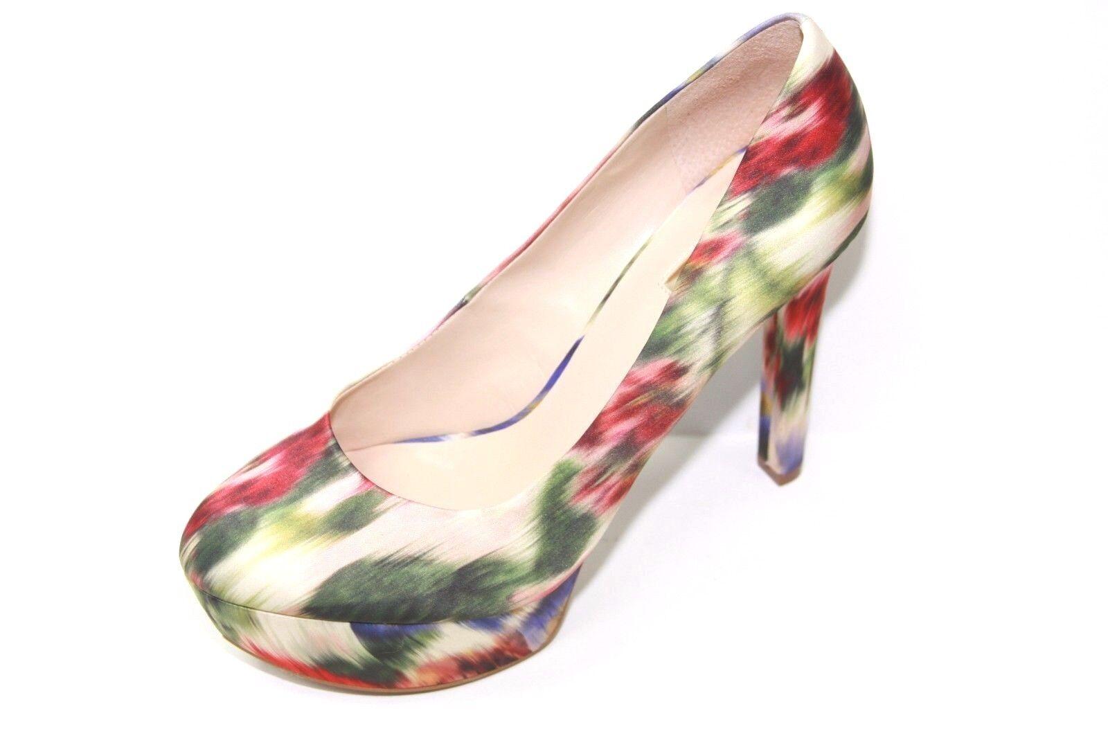 Guess Ette 3 Sz Womens Natural Multi Fabric Platform Heel Sz 3 9m NWOB f5e164