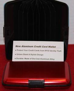 ALUMINUM CREDIT CARD WALLET CASE RFID ID THEFT MULTI-COLOR UNISEX