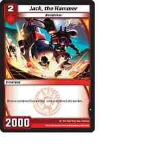 Kaijudo X3 JACK, THE HAMMER Common #102/160 15VTX (Playset) Vortex DUEL MASTERS