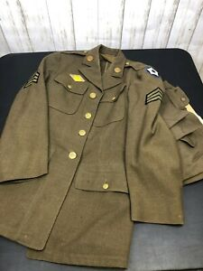 Original WW2 US Enlisted Army Dress Uniform with Pants | eBay