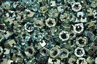 (80) Slotted Hex Castle Nuts 5/8-11 Thread Zinc Plated
