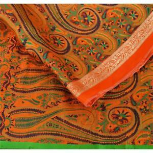 Tcw-Vintage-Pure-Silk-Woven-Design-Fabric-Decor-Indian-Craft-30-034-X44-034