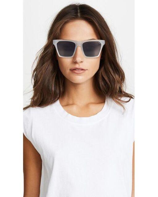 3e222fbaba4 Quay Australia Alright White   Smoke Authentic Women DESIGNER Sunglasses  for sale online
