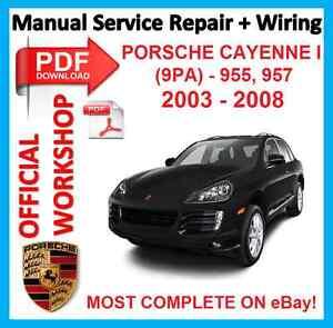 official workshop manual service repair wiring porsche cayenne i 9pa rh m ebay com 2004 Porsche Cayenne service manual porsche cayenne