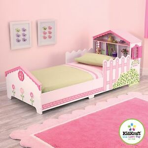 Image Is Loading Kidkraft Dollhouse Toddler Bed Girls Doll House