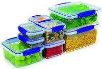 sistema Klip It 16 Piece Set of Rectangular Containers Kitchen