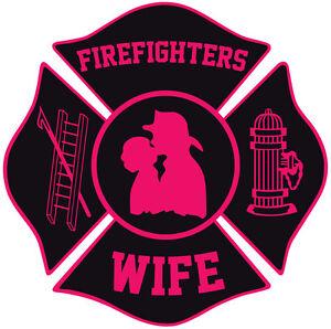 Image is loading Firefighter-Stickers-Fire-Wife-4-034-Maltese-Sticker-