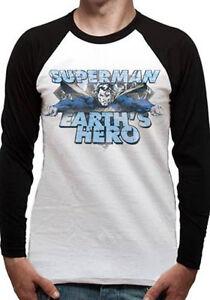 Oficial-Dc-Comics-Superman-034-earth-039-s-Heroe-034-manga-larga-unisex